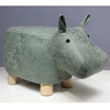 Picture of Hardwood GREEN HIPPO Ottoman