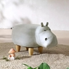 Picture of BIG Hardwood WHITE HIPPO Ottoman