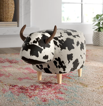 Picture of BIG Hardwood COW Ottoman