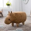 Picture of BIG Hardwood YELLOW HIPPO Ottoman