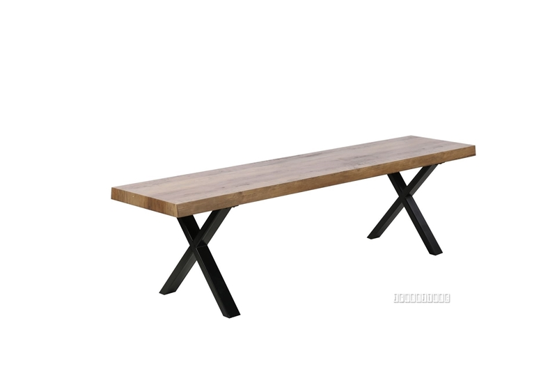 Picture of GALLOP 180 DINING BENCH *LIVE EDGE* DARK
