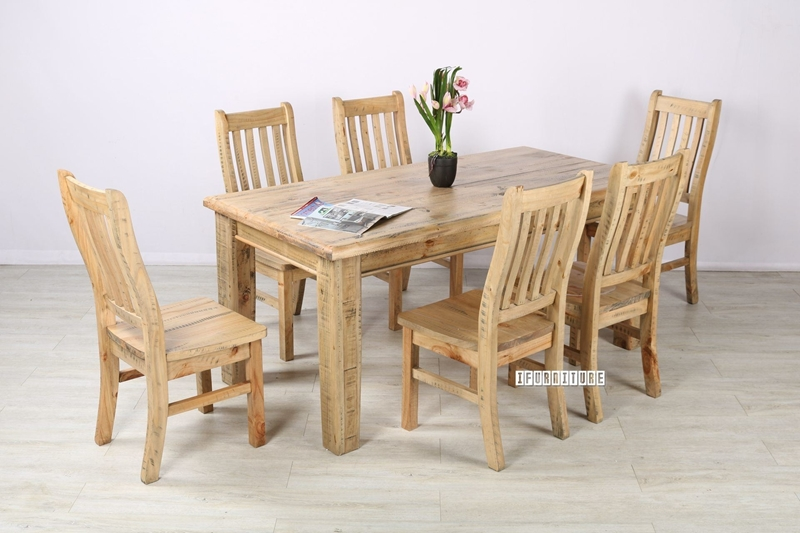 "Picture of OUTBACK 71"" 7PC DINING SET *SOLID PINE"