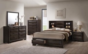 Picture of SHERBORNE BEDROOM COLLECTION * STORAGE BED FRAME WITH BOOKCASE AND DRAWERS