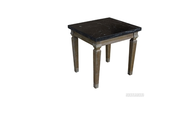 Picture of IMPERIAL SIDE TABLE * REAL BLACK MARBLE TOP/WHITE WASH TIMBER