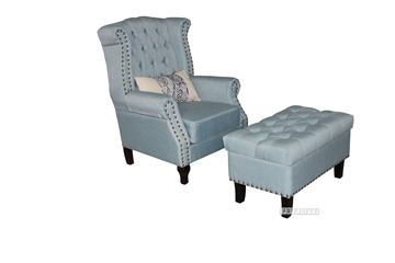 Picture of BRADFORD LOUNGE CHAIR WITH OTTOMAN *BLUE