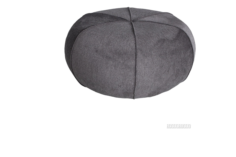 Picture of ALABAMA ROUND OTTOMAN *BROWN