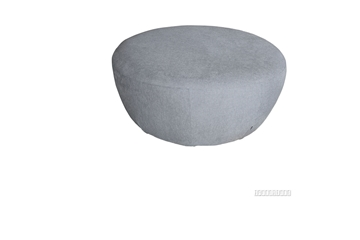 Picture of DEMI ROUND OTTOMAN * LIGHT GREY