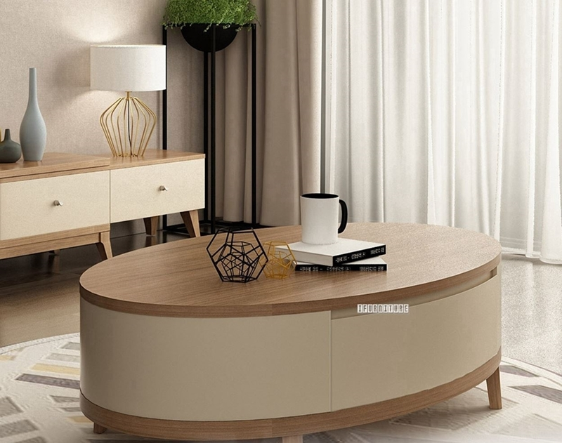 Sevilla Oval Shaped Coffee Table Ifurniture The Largest Furniture Store In Edmonton Carry Bedroom Furniture Living Room Furniture Sofa Couch Lounge Suite Dining Table And Chairs And Patio Furniture Over 1000 Products