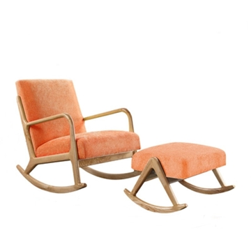 Picture of PUDDLE ROCKING CHAIR WITH STOOL* ORANGE