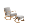 Picture of PUDDLE ROCKING CHAIR WITH STOOL* GREY