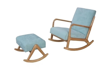 Picture of PUDDLE ROCKING CHAIR WITH STOOL* BLUE