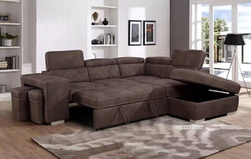 Picture of Aria Sectional Sofa/ Sofa Bed with Storage & 2 Ottomans