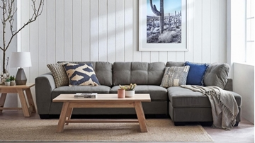 Picture of CAMDEN SECTIONAL SOFA IN DARK GREY *MEMORY FOAM