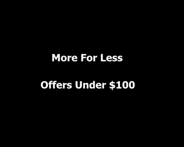 Picture for category Deals Under $100