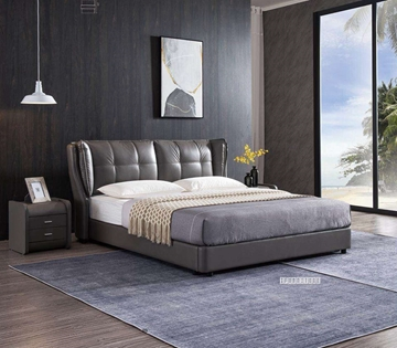 Picture of PAULAS LEATHER BED IN QUEEN/KING