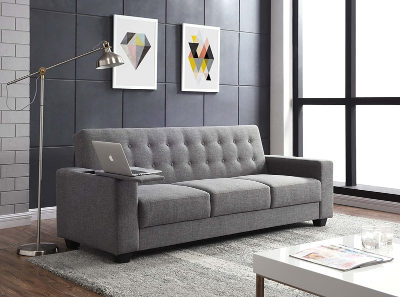 Picture of Roberson 3 seater sofa bed* with power outlet and USB charger