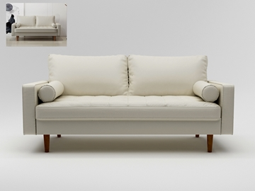 Picture of FAVERSHAM 3+2 SOFA RANGE - WHITE PU