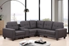 Picture of CLEAVON  Sectional Sofa * grey & black