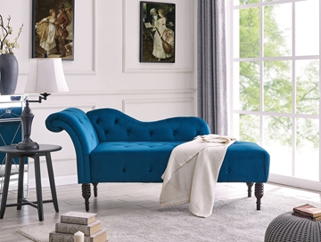 Picture of HAMPTON CHAISE LOUNGER *BLUE VELVET