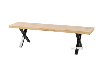 Picture of GALLOP 180 DINING BENCH *LIVE EDGE* LIGHT