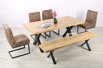 Picture of GALLOP 180 DINING SET *LIVE EDGE - Natural