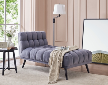 Picture of WINTERTON CHAISE LOUNGER *GREY VELVET