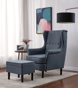 Picture of CARACARA ACCENT CHAIR WITH OTTOMAN *GREY