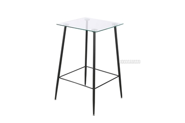 Picture of CARLA SQUARE GLASS BAR TABLE