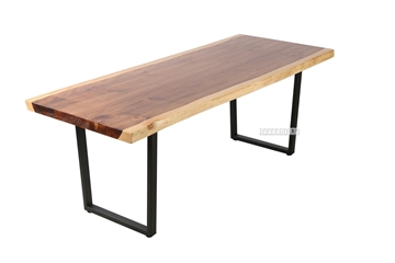 Picture of TASMAN SOLID NZ PINE 1.6/1.8/2.0/2.2/2.4 DINING TABLE *LIVE EDGE