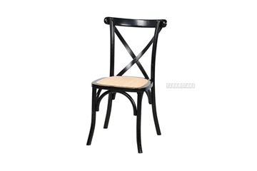 Picture of ALBION CROSS BACK CHAIR *BLACK