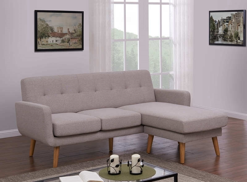 Picture of CARINE 3 SEAT + OTTOMAN OR REVERSIBLE SECTIONAL SOFA *LIGHT GREY