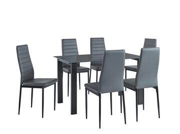 Picture of LENSKY 7PC DINING SET * BLACK