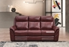 Picture of BREVILLE 1+2+3 RECLINING GENUINE LEATHER SOFA *WINE RED