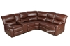 Picture of HARNEY RECLINING SECTIONAL SOFA *LEATHER GEL