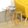 Picture of PARIS 1+1 SIDE TABLE SET*SOLID OAK LEGS