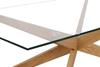 Picture of PARIS CROSS LEGS RECTANGULAR GLASS COFFEE TABLE *SOLID OAK LEGS