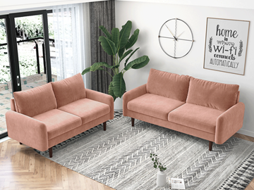 Picture of KAISON  2+3 SOFA RANGE *ROSE