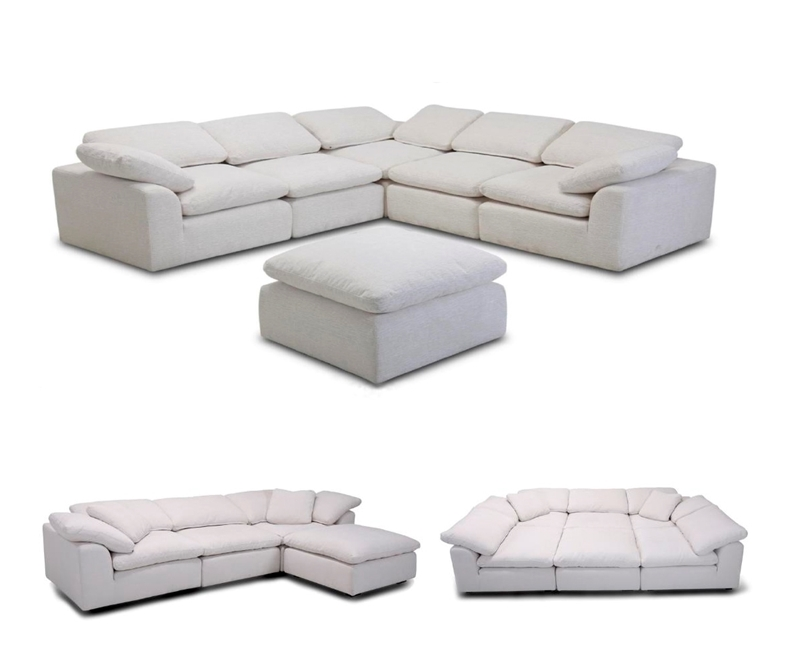 Picture of ALBERT FEATHER FILLED MODULAR SOFA RANGE*BEIGE