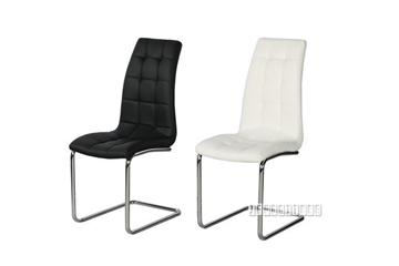 Picture of STOKES DINING CHAIR *BLACK/WHITE