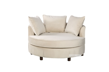 Picture of LYDIA NEST CHAIR/ SOFA IN BEIGE VELVET FABRIC
