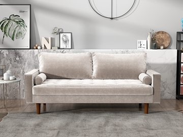 Picture of FAVERSHAM 3+2 SOFA RANGE * Beige Velvet