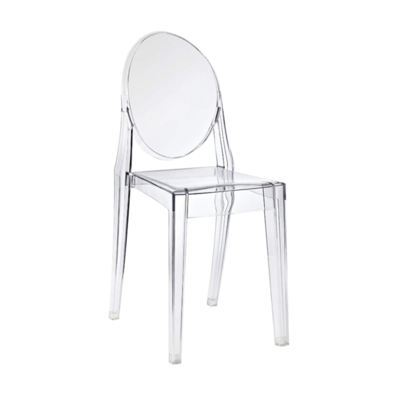 Picture of GHOST DINING CHAIR IN CLEAR/BLACK COLOR