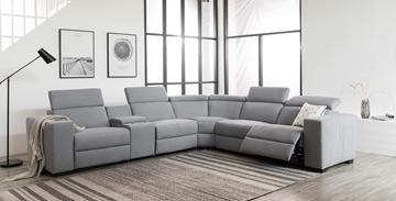 Picture of Grenata Modular Fabric power reclining sectional sofa *  *MEMORY FOAM