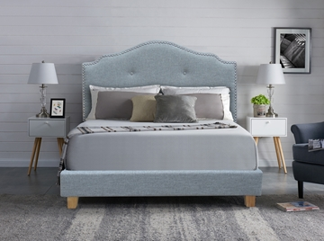 Picture of LYNN UPHOLSTERED PLATFORM BED IN FULL/DOUBLE SIZE