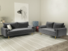 Picture of MARYJANET VELVET SOFA RANGE IN GREY