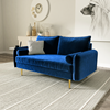 Picture of MARYJANET VELVET SOFA RANGE IN SPACE BLUE
