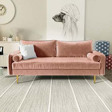 Picture of MARYJANET VELVET SOFA RANGE IN ROSE