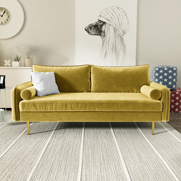 Picture of MARYJANET VELVET SOFA RANGE IN GOLDENROD