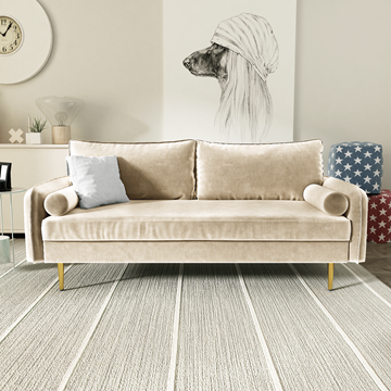 Picture of MARYJANET VELVET SOFA RANGE IN BEIGE