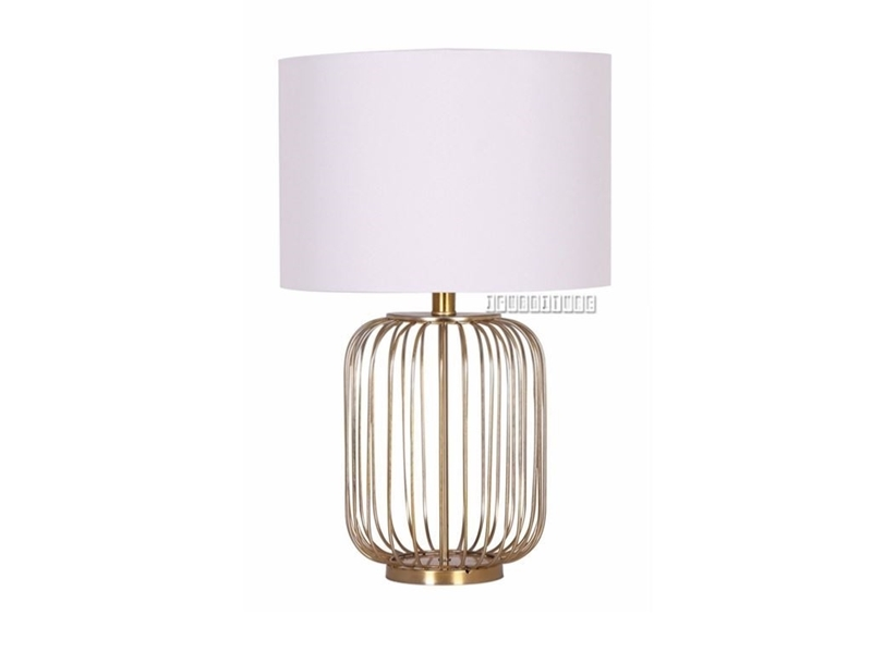 Picture of ML93541 METAL AND LINEN TABLE LAMP *COPPER